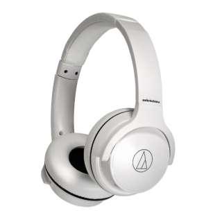 ブルートゥースヘッドホン ホワイト ATH-S220BT WH [リモコン・マイク対応 /Bluetooth]