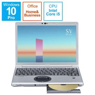 CF-SV1FDMQR モバイルPC ブラック&シルバー [12.1型 /intel Core i5 /SSD:256GB /メモリ:16GB]