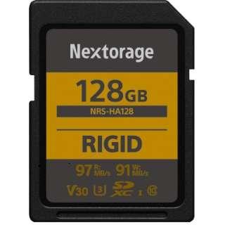 堅牢設計・防塵防水(IP68) RIGID仕様 SDXCカード 128GB 【UHS-I Class10 U3 V30】 NRS-HA128/N [128GB /Class10]