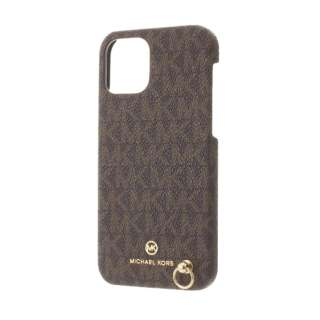 MICHAEL KORS - Slim Wrap Case Signature with Hand Strap - Magsafe for iPhone 12/12 Pro [ Brown ] MKSHBRWWPIP2061 ブラウン