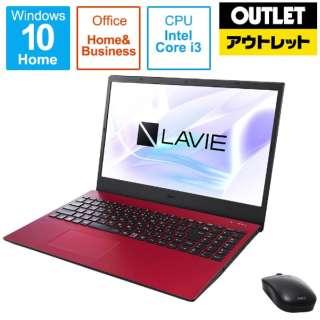 【アウトレット品】 PC-N1535BAR ノートパソコン LAVIE N15シリーズ カームレッド [15.6型 /intel Core i3 /SSD:256GB /メモリ:8GB /2021年1月モデル] 【生産完了品】
