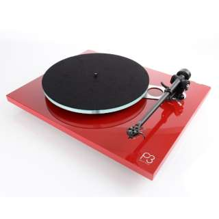 レコードプレーヤー(60HZ地域専用) カートリッジ付 レッド PLANAR3MK2-RED-WITH-ELYS2/60HZ