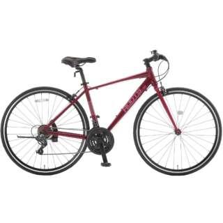 700×28C クロスバイク ROOTS ルーツL21(ワインレッド/外装21段変速) SR700B【2021年モデル】 【組立商品につき返品不可】