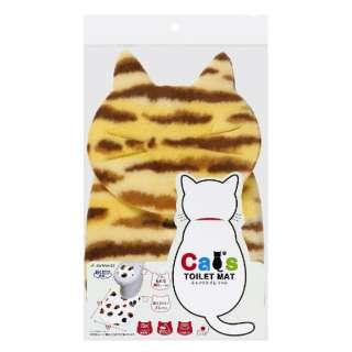 吸着Catsトイレマット+猫顔シート 茶トラ  KX-01