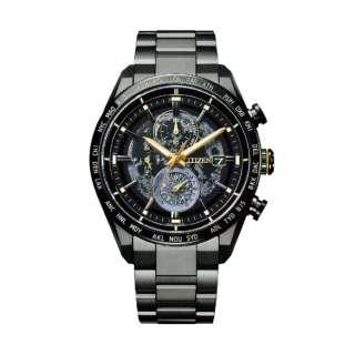 【世界限定1600本】 ATTESA(アテッサ) エコ・ドライブ電波時計 [ソーラー電波時計] ダイレクトフライト ACT Line HAKUTO-Rコラボレーションモデル -Black Titanium Series- AT8185-71E