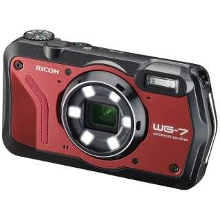 WG-7 コンパクトデジタルカメラ レッド [防水+防塵+耐衝撃]