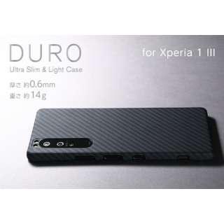 Ultra Slim & Lite Case DURO Special Edition for Xperia 1 III 【アラミド繊維製 超軽量ケース】 マットブラック DCS-XP1M3KVSEMBK