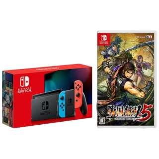 Nintendo Switch Joy-Con(L) ネオンブルー/(R) ネオンレッド [2019年8月モデル] + 戦国無双5 セット [ゲーム機本体]