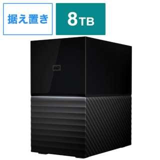 WDBFBE0080JBK-JEEX 外付けHDD USB-C+USB-A接続 My Book Duo 2021EX ブラック [8TB /据え置き型]