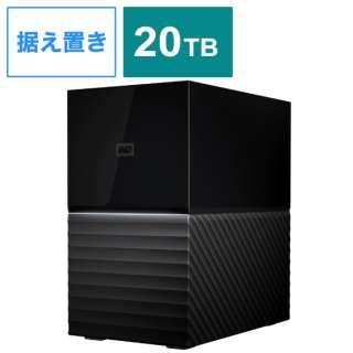 WDBFBE0200JBK-JEEX 外付けHDD USB-C+USB-A接続 My Book Duo 2021EX ブラック [20TB /据え置き型]