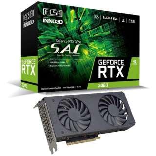 グラフィックボード GeForce RTX 3060 S.A.C/L(LHRモデル) GD3060-12GERSH [GeForce RTXシリーズ /12GB]