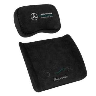 noblechairs ゲーミングチェア 交換用 メモリーフォーム クッションセット (ネックピロー + ランバーサポート) Mercedes-AMG Petronas Formula One Team Edition noblechairs ブラック NBL-SP-PST-012