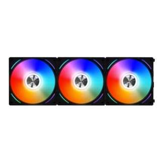 ケースファンx3 [120mm /1900RPM] UNI FAN AL120 BK 3Pack ブラック UF-AL120-3B