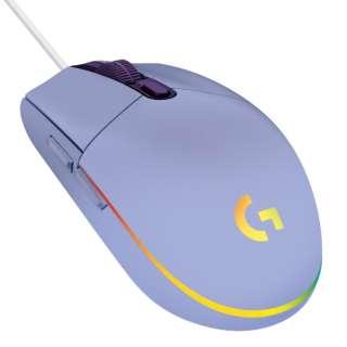 ゲーミング マウス G203 LIGHTSYNC ライラック G203-LC [光学式 /有線 /6ボタン /USB]
