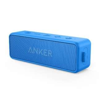 ブルートゥーススピーカー SoundCore 2 ブルー A3105035 [防水 /Bluetooth対応]