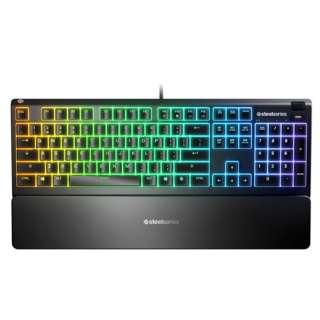 ゲーミングキーボード+リストレスト Apex 3 US(英語配列) 64795 [有線 /USB]