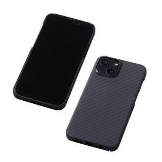 iPhone 13 mini対応 5.4inch アラミド繊維製 超軽量ケース「DURO」 マットブラック DCS-IPD21SKVMBK