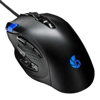 ゲーミングマウス RACEN ブラック CRC-GMRGB03 [IR LED /有線 /12ボタン /USB]