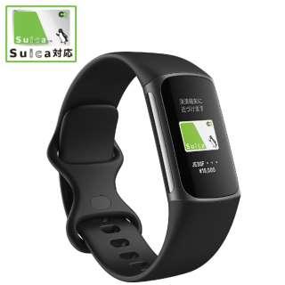 【Suica対応】Fitbit Charge5 GPS搭載フィットネストラッカー L/Sサイズ ブラック FB421BKBK-FRCJK