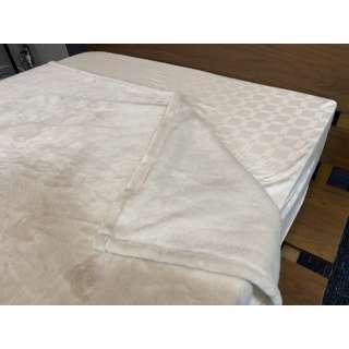 【毛布】ソフトタッチなめらか毛布 クロエ シングルサイズ(140x190cm/アイボリー)