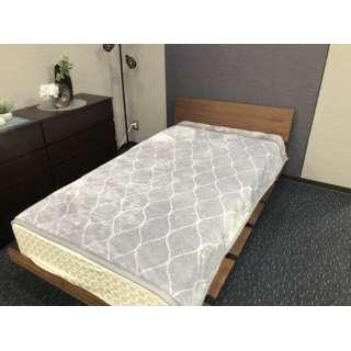 【毛布】綿入り合わせなめらか毛布 タイルへリンボン シングルサイズ(140x200cm/グレー)