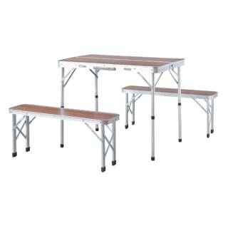 フォールディングテーブル&ベンチセット(テーブル:W90×D60×H70/ベンチ:W87×D23×H38cm) ODL559 【キャンセル・返品不可】