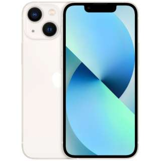 【SIMフリー】iPhone 13 mini A15 Bionic 5.4型 ストレージ:128GB デュアルSIM(nano-SIMとeSIMx2) MLJE3J/A スターライト