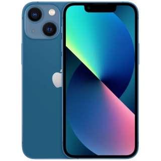 【SIMフリー】iPhone 13 mini A15 Bionic 5.4型 ストレージ:128GB デュアルSIM(nano-SIMとeSIMx2) MLJH3J/A ブルー