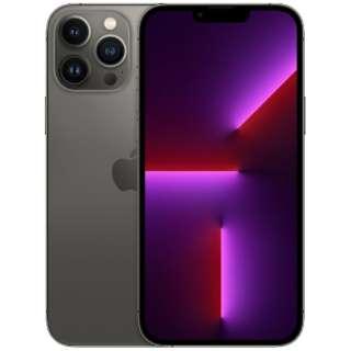 【SIMフリー】iPhone 13 Pro Max A15 Bionic 6.7型 ストレージ:128GB デュアルSIM(nano-SIMとeSIMx2) MLJ43J/A グラファイト