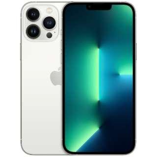 【SIMフリー】iPhone 13 Pro Max A15 Bionic 6.7型 ストレージ:128GB デュアルSIM(nano-SIMとeSIMx2) MLJ53J/A シルバー