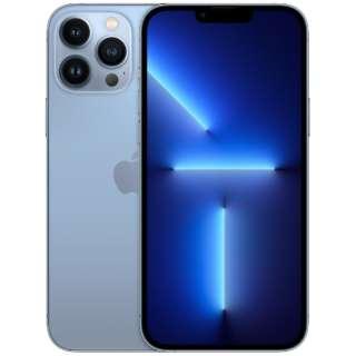 【SIMフリー】iPhone 13 Pro Max A15 Bionic 6.7型 ストレージ:128GB デュアルSIM(nano-SIMとeSIMx2) MLJ73J/A シエラブルー