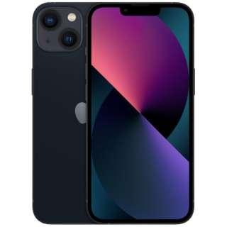 【SIMフリー】iPhone 13 A15 Bionic 6.1型 ストレージ:128GB デュアルSIM(nano-SIMとeSIMx2) MLNC3J/A ミッドナイト