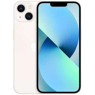 【SIMフリー】iPhone 13 A15 Bionic 6.1型 ストレージ:128GB デュアルSIM(nano-SIMとeSIMx2) MLND3J/A スターライト