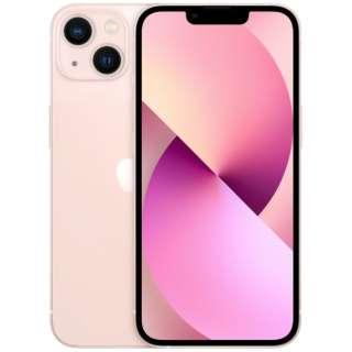 【SIMフリー】iPhone 13 A15 Bionic 6.1型 ストレージ:128GB デュアルSIM(nano-SIMとeSIMx2) MLNE3J/A ピンク