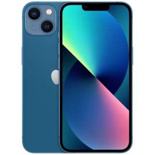 【SIMフリー】iPhone 13 A15 Bionic 6.1型 ストレージ:128GB デュアルSIM(nano-SIMとeSIMx2) MLNG3J/A ブルー