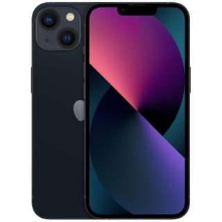 【SIMフリー】iPhone 13 A15 Bionic 6.1型 ストレージ:256GB デュアルSIM(nano-SIMとeSIMx2) MLNH3J/A ミッドナイト