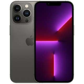 【SIMフリー】iPhone 13 Pro A15 Bionic 6.1型 ストレージ:128GB デュアルSIM(nano-SIMとeSIMx2) MLUE3J/A グラファイト
