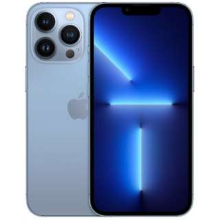 【SIMフリー】iPhone 13 Pro A15 Bionic 6.1型 ストレージ:512GB デュアルSIM(nano-SIMとeSIMx2) MLV03J/A シエラブルー