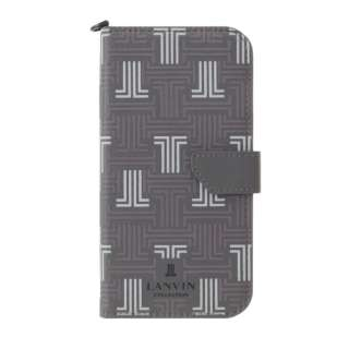 LANVIN COLLECTION - Folio Case Signature with Neck Strap for iPhone 2021(6.7inch) [ Gray ] LANVIN COLLECTION ランバンコレクション LCSIGRYFLNSIP2167