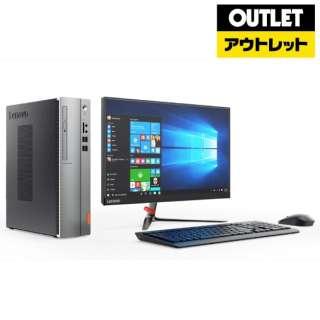 【アウトレット品】 90GB00D9JP デスクトップパソコン ideacentre 510S シルバー+ブラック [21.5型 /intel Core i3 /メモリ:8GB /HDD:1TB /2018年1月] 【生産完了品】