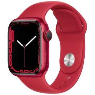 Apple Watch Series 7(GPS+Cellularモデル)- 41mm(PRODUCT)REDアルミニウムケースと(PRODUCT)REDスポーツバンド - レギュラー MKHV3J/A