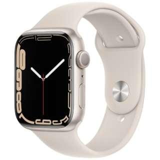 Apple Watch Series 7(GPSモデル)- 45mmスターライトアルミニウムケースとスターライトスポーツバンド - レギュラー MKN63J/A