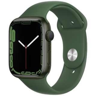 Apple Watch Series 7(GPSモデル)- 45mmグリーンアルミニウムケースとクローバースポーツバンド - レギュラー MKN73J/A
