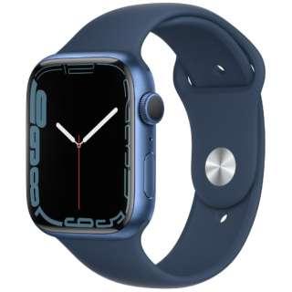 Apple Watch Series 7(GPSモデル)- 45mmブルーアルミニウムケースとアビスブルースポーツバンド - レギュラー MKN83J/A