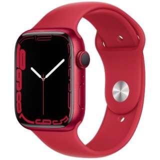 Apple Watch Series 7(GPSモデル)- 45mm(PRODUCT)REDアルミニウムケースと(PRODUCT)REDスポーツバンド - レギュラー MKN93J/A
