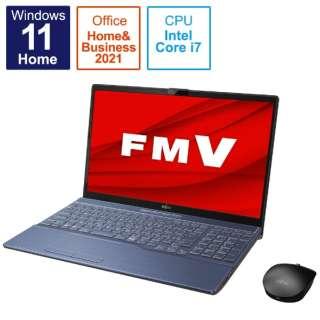 ノートパソコン LIFEBOOK AH53/F3 メタリックブルー FMVA53F3L [15.6型 /intel Core i7 /メモリ:8GB /SSD:512GB /2021年10月モデル]
