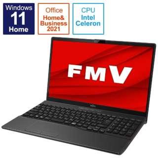 ノートパソコン LIFEBOOK AH42/F3 ブライトブラック FMVA42F3B [15.6型 /intel Celeron /メモリ:4GB /SSD:256GB /2021年10月モデル]