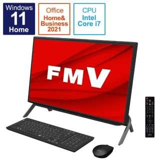 デスクトップパソコン ESPRIMO FH77/F3(テレビ機能) ブラック FMVF77F3B [23.8型 /intel Core i7 /メモリ:8GB /HDD:1TB /SSD:256GB /2021年10月モデル]