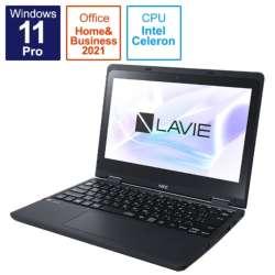 ノートパソコン LAVIE N11 ファインブラック PC-N1115CAB [11.6型 /intel Celeron /メモリ:4GB /eMMC:128GB /2021年秋冬モデル]