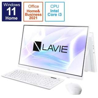 デスクトップパソコン LAVIE A23 ファインホワイト PC-A2335CAW [23.8型 /intel Core i3 /メモリ:8GB /SSD:512GB /2021年秋冬モデル]